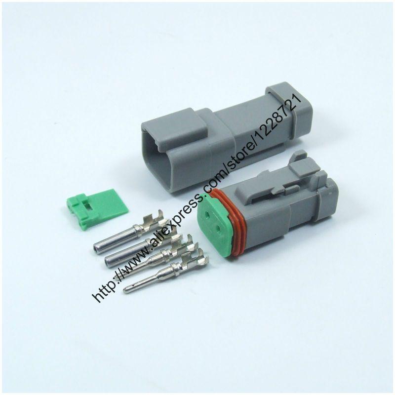 1 Sets Kits DT06-2S-EC01 DT04-2P-EC01 2Pins Male Female Electrical ...