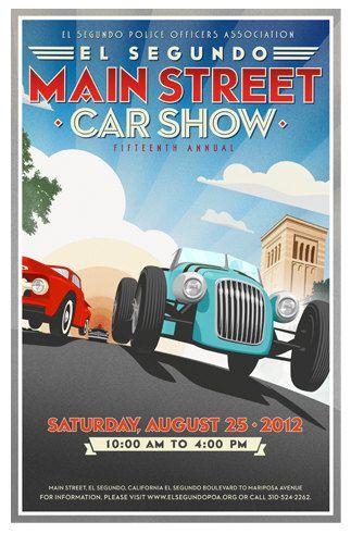 Th Annual El Segundo California Main Street Car Show Print X - Main street car show