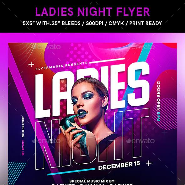 Ladies Night Flyer Ladies Night Flyer Design Template