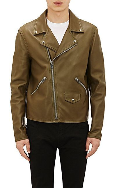 Loewe Leather Perfecto Jacket At Barneys Com Jackets Leather Jacket Athletic Jacket