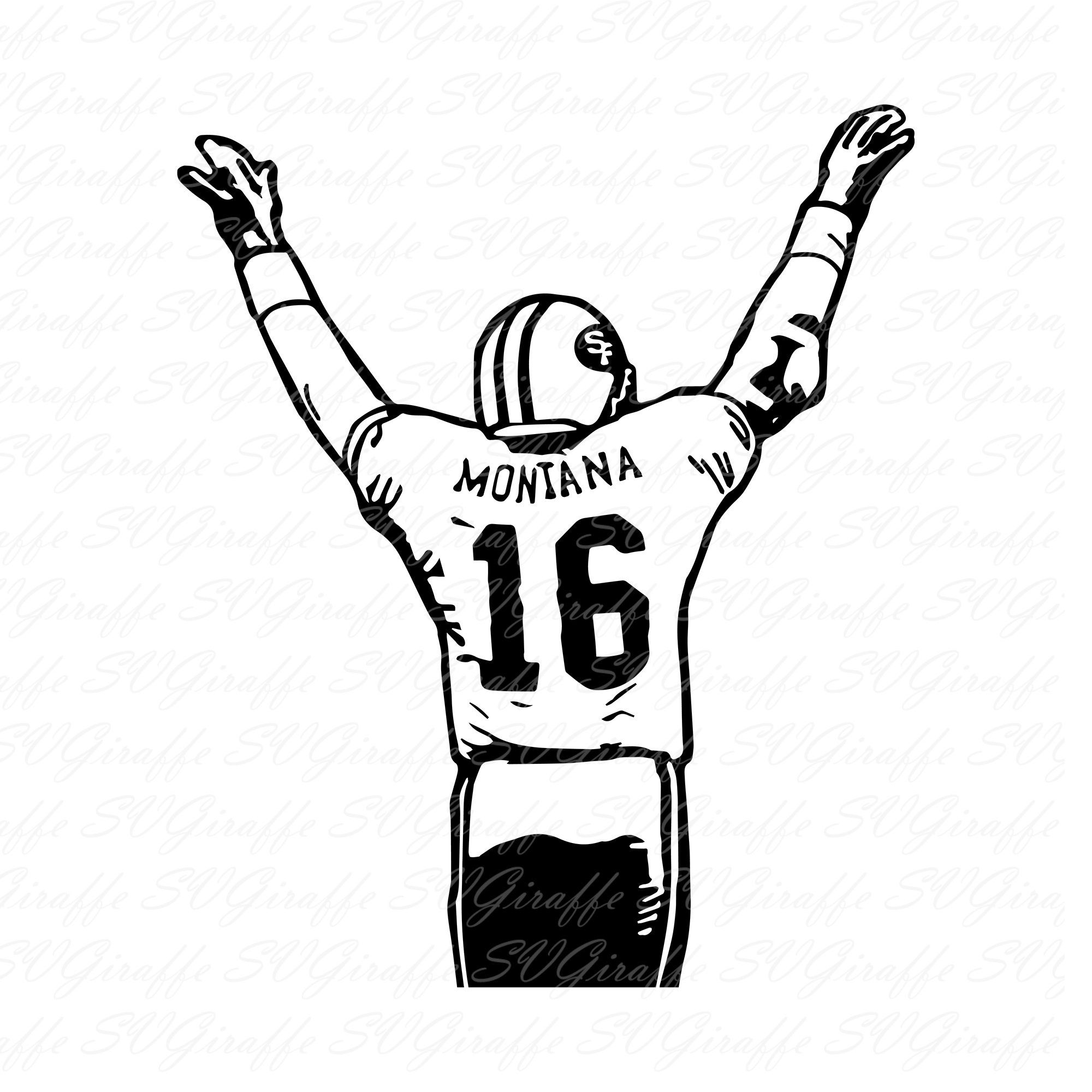 Joe Montana Svg Dxf Png Pdf Jpg Eps Files San Fancisco 49ers Etsy Joe Montana Vector Svg Svg