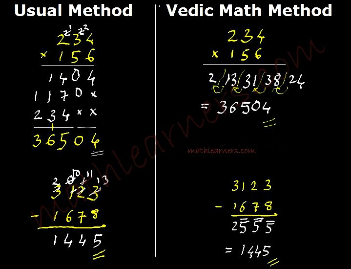 Vedic Mathematics Mathlearners Com Math Methods Math Subtraction Mathematics