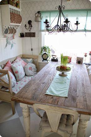 Crea un comedor shabby chic con estas ideas | Shabby and Farmhouse table