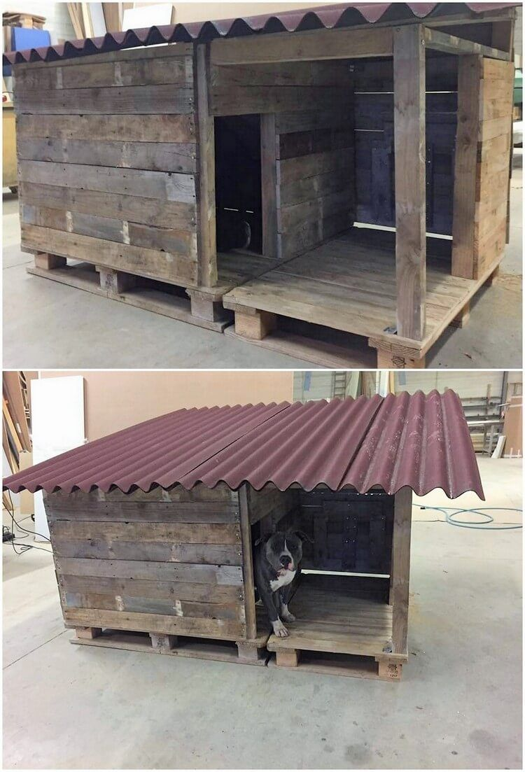 Awesome Diy Projects With Old Shipping Wooden Pallets Dog House