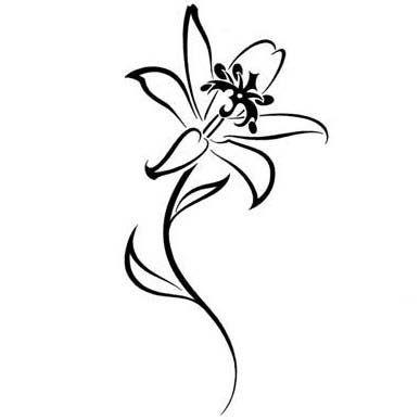 Tribal Lily Tattoo Picture Tattoowoo Com Small Lily Tattoo Lily Flower Tattoos Lily Tattoo