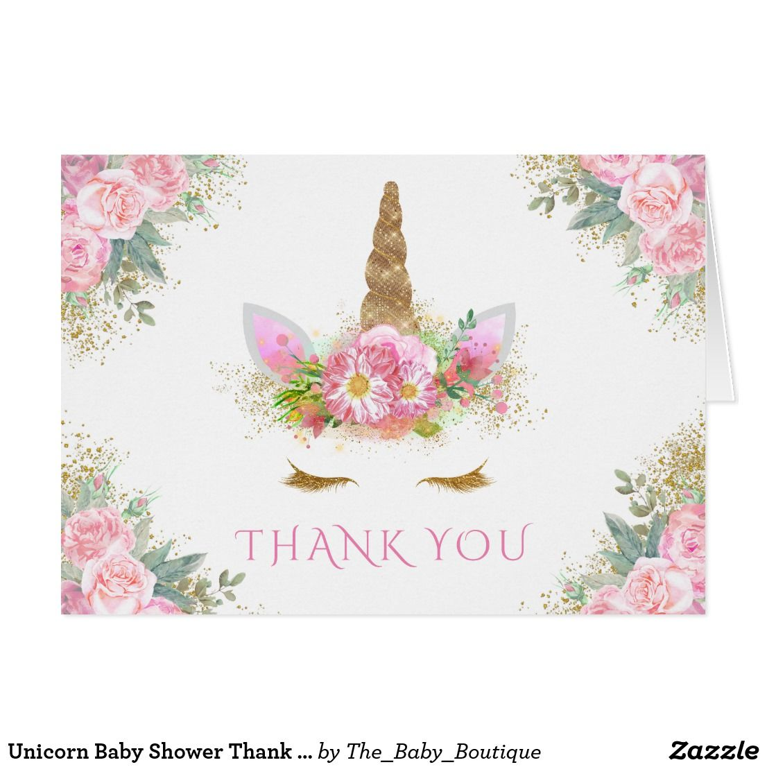 Unicorn Baby Shower Thank You Cards Thank You Cards For Any