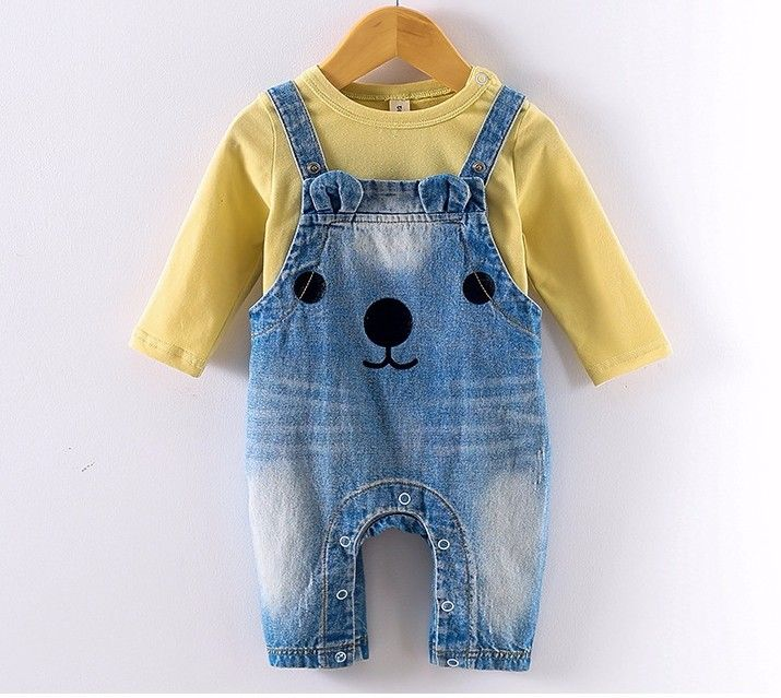 ff0885627 F3717#cartoon Baby Outfit Boutique Fashion Nova Clothing Baby Clothes Girls Boys  Cowboy Unisex Denim Rompers Jeans Wholesale - Buy New Product,Baby Clothing  ...