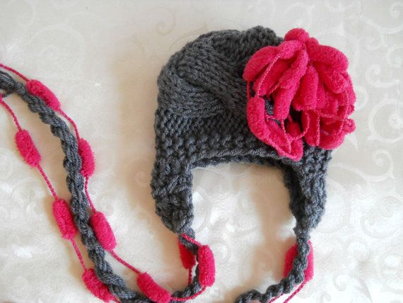 Baby Girl Hat Infant Hat Photo Prop Newborn Hat Pom by effybags, $20.00