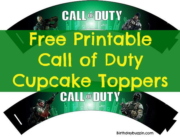Free Printable Call of Duty Cupcake Wrappers Call of Duty Party