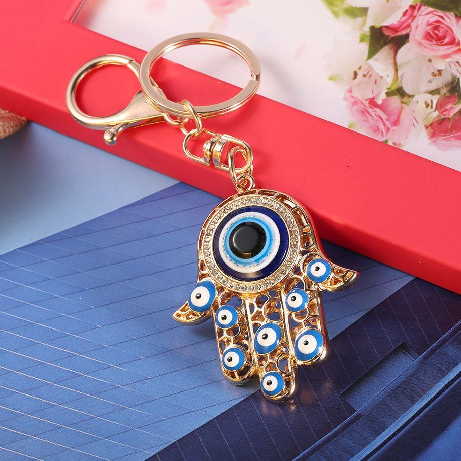 Unique Charming Big Hand Turkey Eye Shape Key Chain Women Handbag Keyring Oe 928fabe8f6