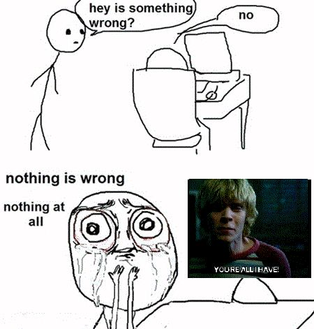 American Horror Story tate and the crying scenes :(