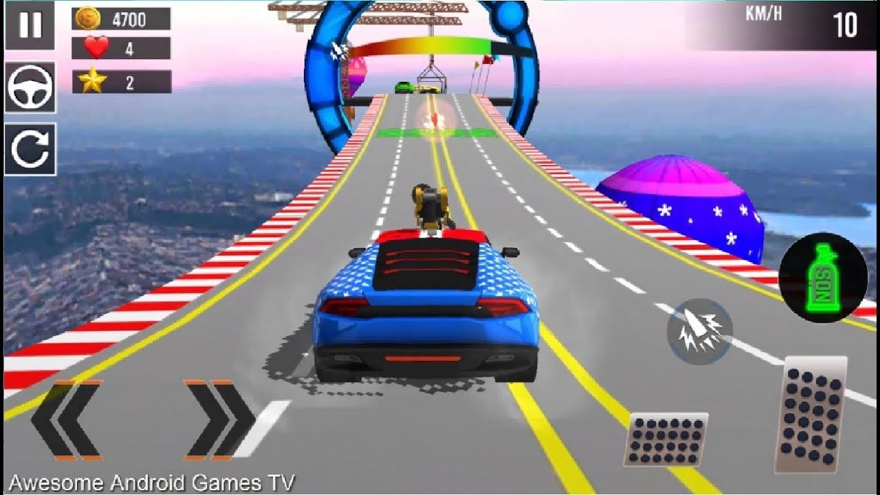 Ramp Stunt Car Racing Games Car Stunt Games 2019 Android Gameplay Fhd Racing Games Stunts Game Arena