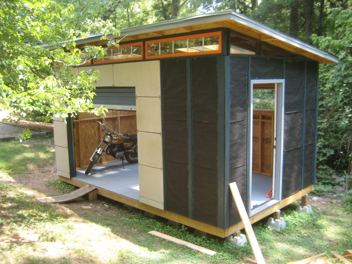 Diy Modern Shed Project Chalet De Jardin Cabanon Cabine En Bois