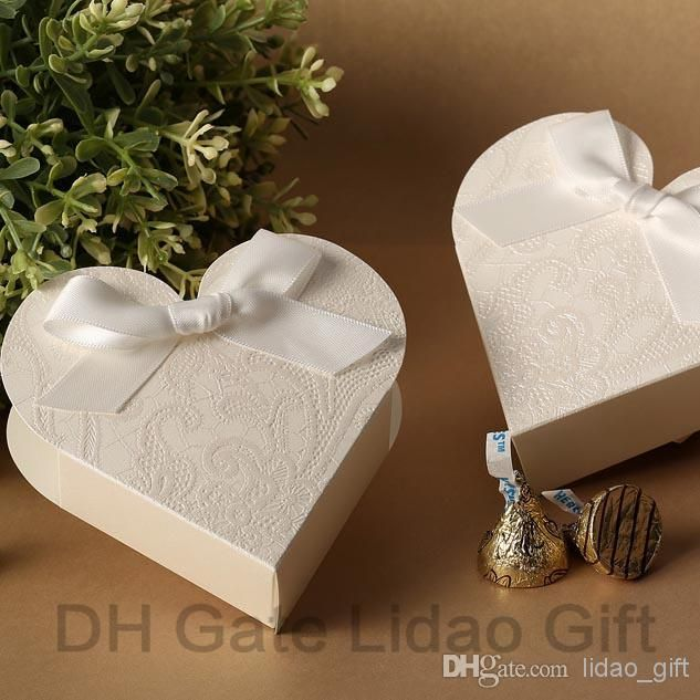 Cheap Candy Boxes Discount Heart Shaped Embossed Candy Gifts