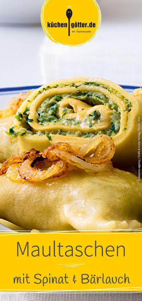 maultaschen mit spinat und bärlauch rezept rezepte
