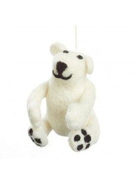 This Fair Trade Polar Bear Christmas Tree Decoration needs to be on my Christmas Tree this year!
