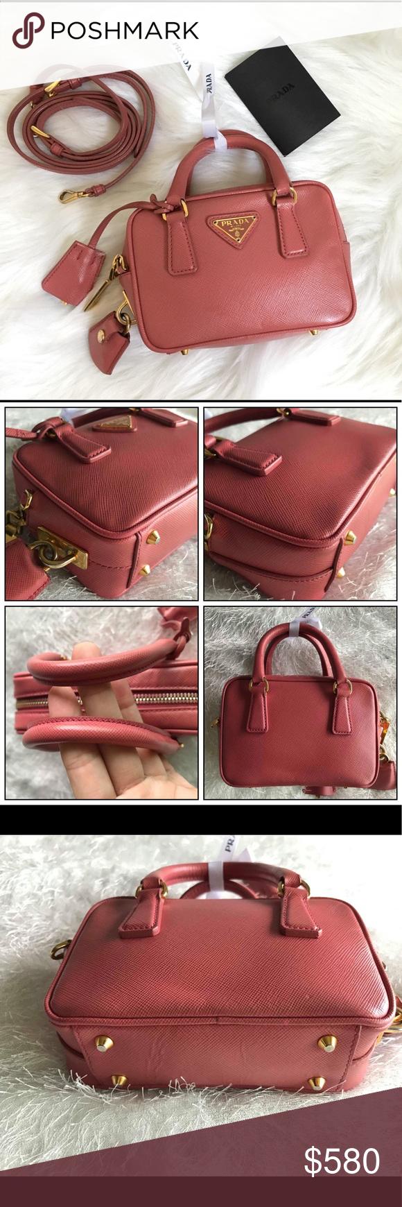 28528ecac7a Prada Handbags · SALE ❗️Prada Saffiano Lux Mini Crossbody This chic  cross-body baguette is crafted of
