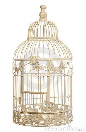 Witte vogelkooi ter decoratie deze is te beige things for Vogelkooi decoratie