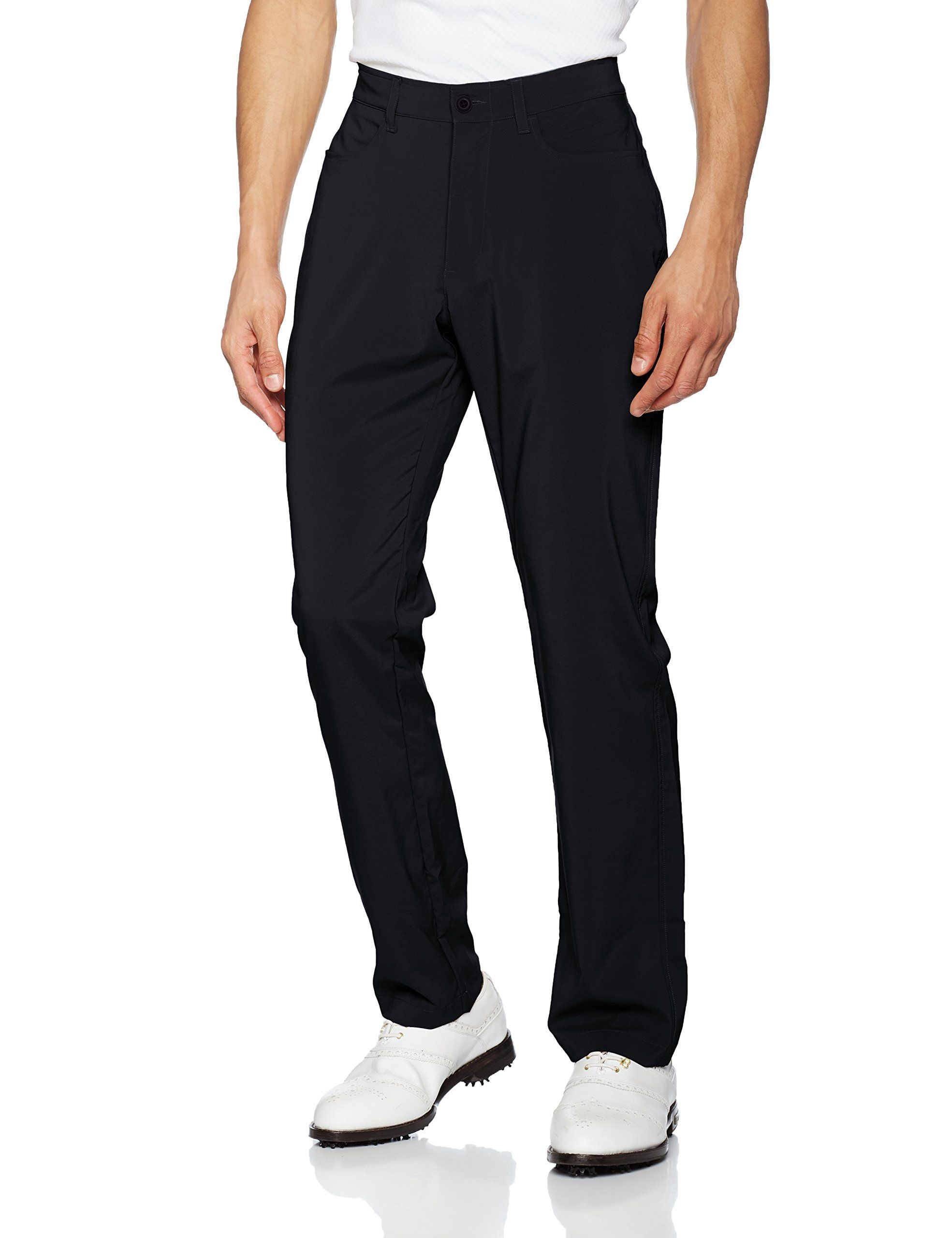 Under Armour Mens Tech Golf Pants Black 34/32 Check