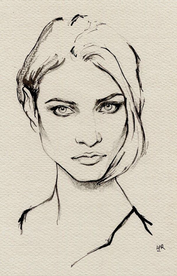ink painting--Anna Selezneva by ler huang, via Behance