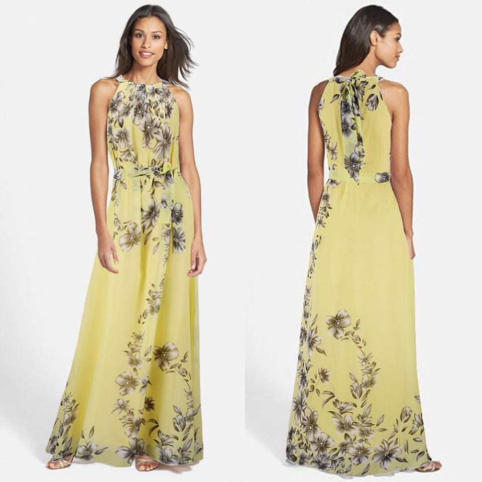 Chiffon maxi size lemon colour delivery is weeks floral