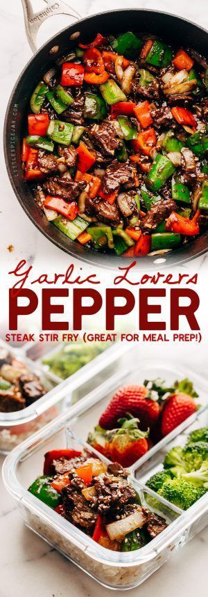 Garlic Lovers Pepper Steak Stir Fry (and meal prep!) images