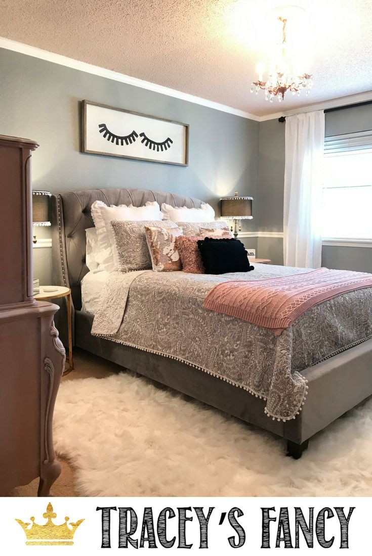 Best Rose Gold And Gray Girls Bedroom Makeover Grey Gold 400 x 300