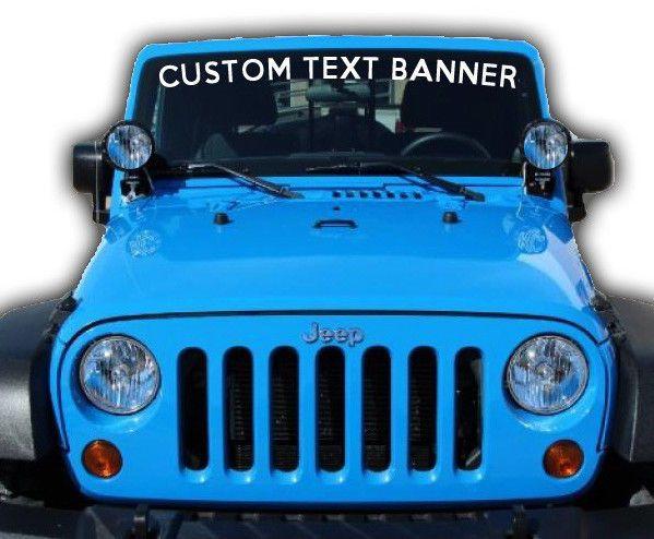 Custom Outdoor Vinyl Lettering Window Jeep SUV Business Glass Door - Custom vinyl outdoor decals