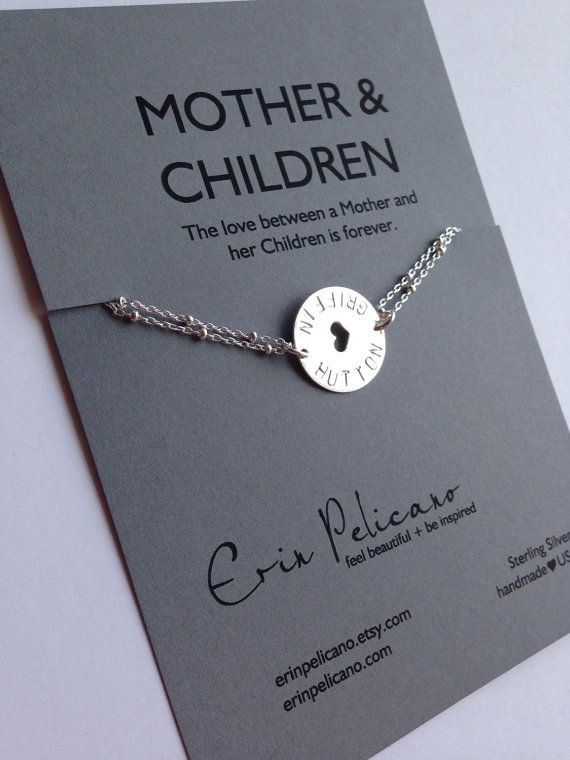 Mothers Jewelry Child Name By Erinpelicano