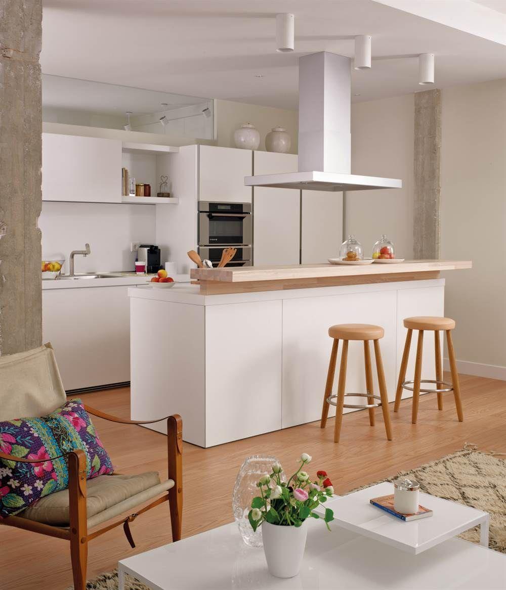 Cocinas pequeñas muy prácticas con buena distribución y muchas ...