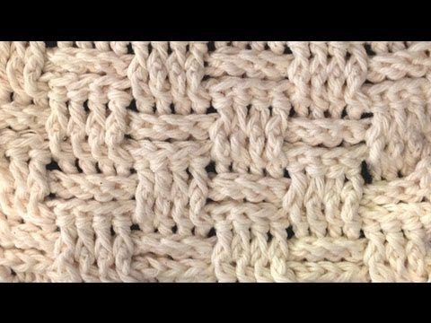 How To Crochet A Basket Weave Stitch Youtube Hooked Breien