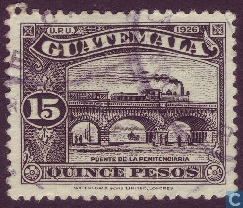 Stamps Guatemala Train Bridge 1926 Met Afbeeldingen