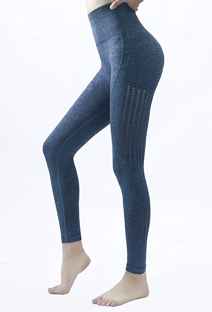 PAROTIAS Yoga Pants Seamless Workout Leggings Tummy Control High Waisted Clothes for Women