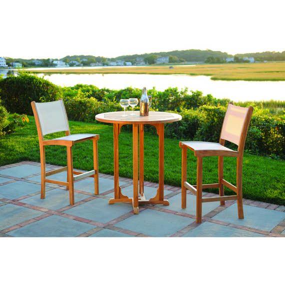 Kingsley Bate Elegant Outdoor Furniture St Tropez bar chairs in