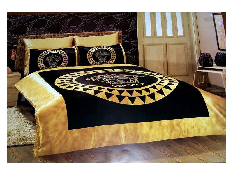 Schlafzimmer Versace ~ Versace bedding set satin medusa duvet set b pinterest