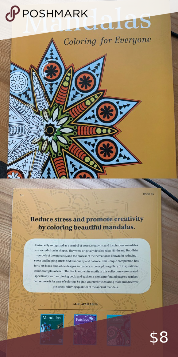Mandalas Coloring For Everyone Coloring Book Coloring Books Buddhist Symbols Color