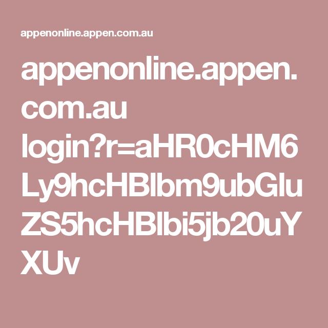 appen.com.au login