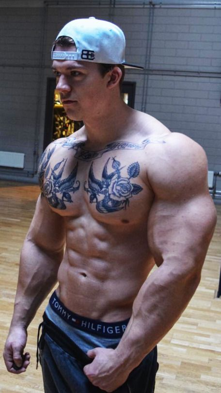 Muscled tattoos boys