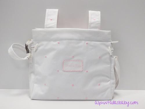 dd01d1277 Bolso Carro Chocolat Baby color blanco mod. plastificado bodoques rosa