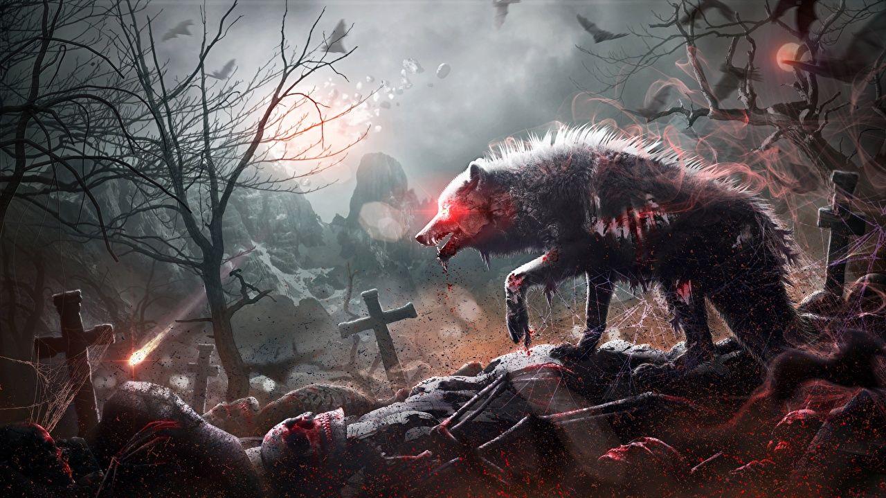 Cemetery Zombie Fantasy Art