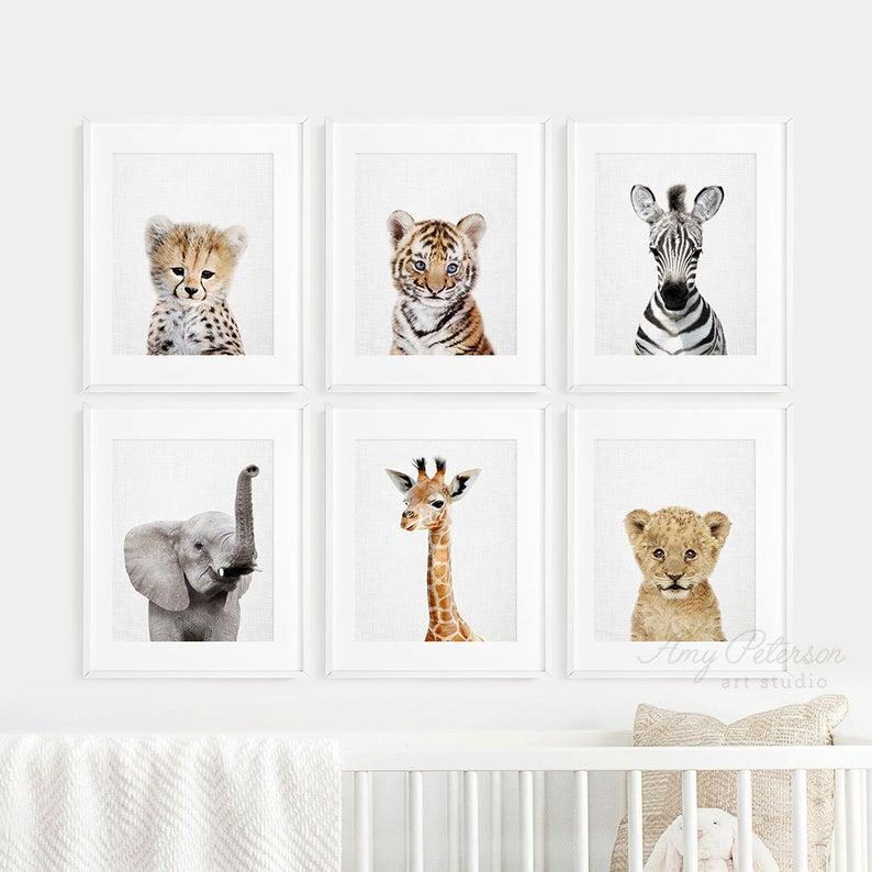 Safari Nursery Decor Baby Animal Prints For Nursery Printable Etsy Safari Nursery Decor Baby Animal Prints Nursery Wall Art