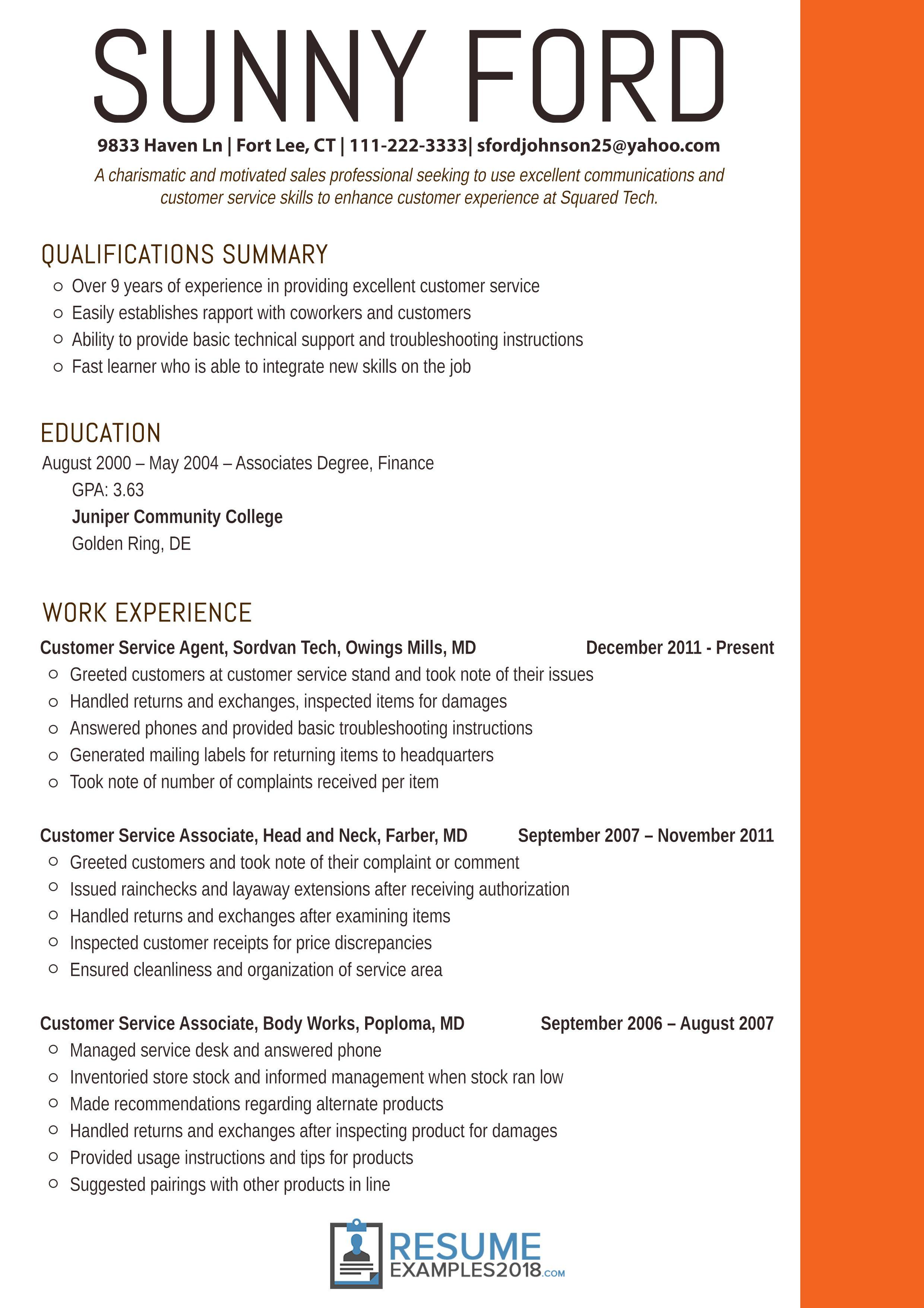 Resume Examples 2018 Finance Examples Finance Resume