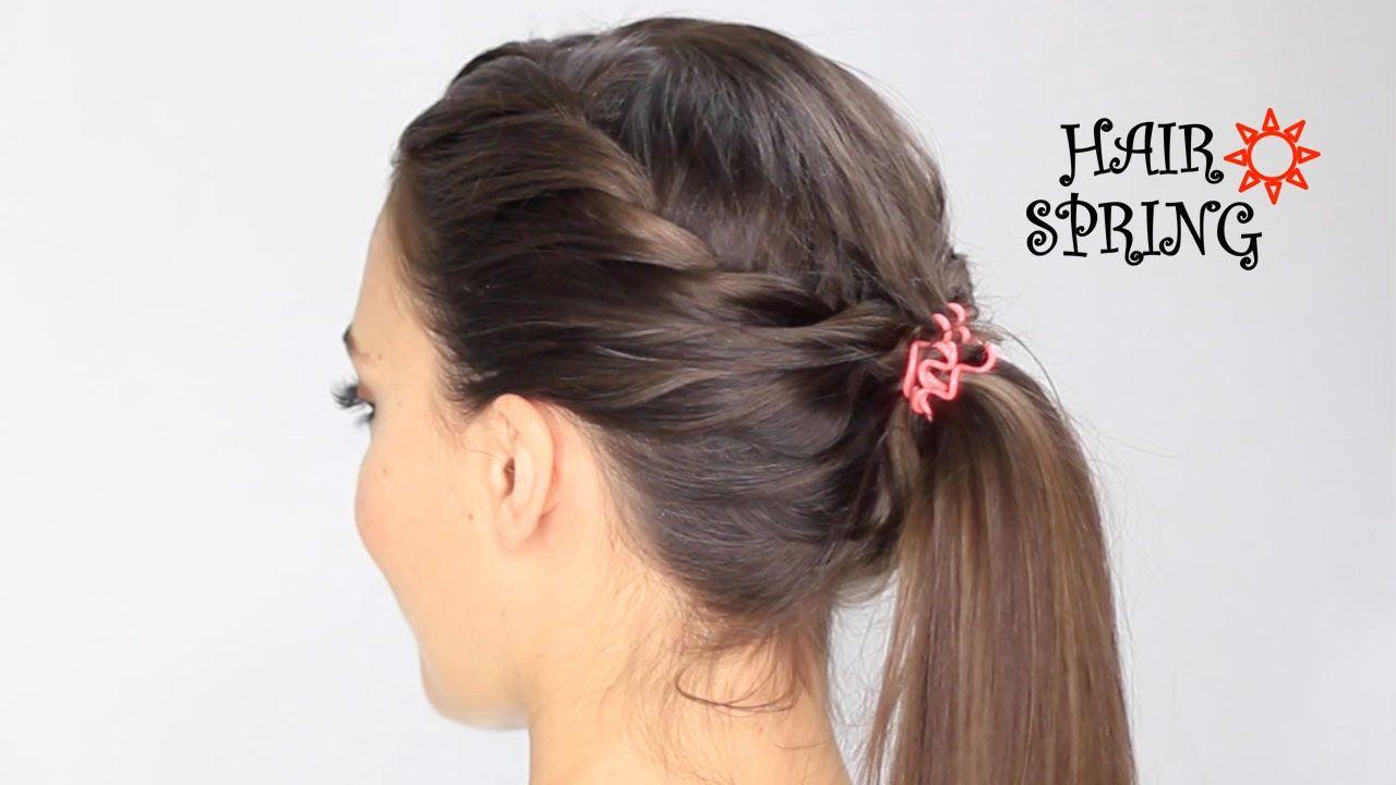 Tuto coiffure Hair Spring Deux torsades réunies en une