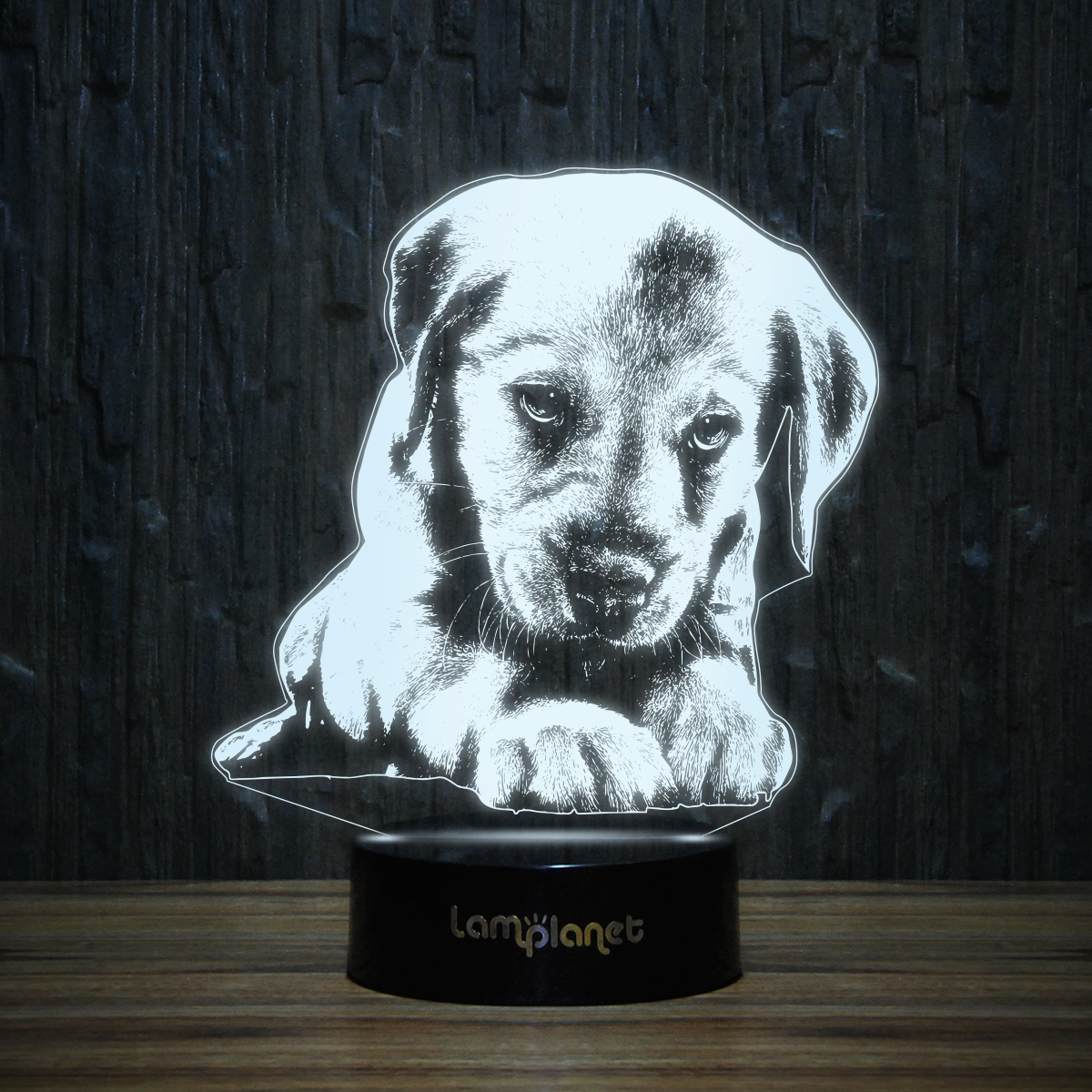 Labrador 3d Illusion Lamp 3d 100 Led Illusion Lamp 3d Illusion Lamp 3d Illusions Labrador Puppy