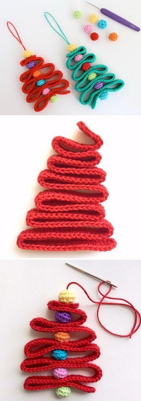 crochet ribbon christmas tree pattern crafts h keln weihnachten weihnachten h keln. Black Bedroom Furniture Sets. Home Design Ideas