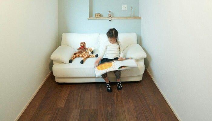 間口1間の子供部屋 ソファーを置いてぴったり By Sugiekensetsu