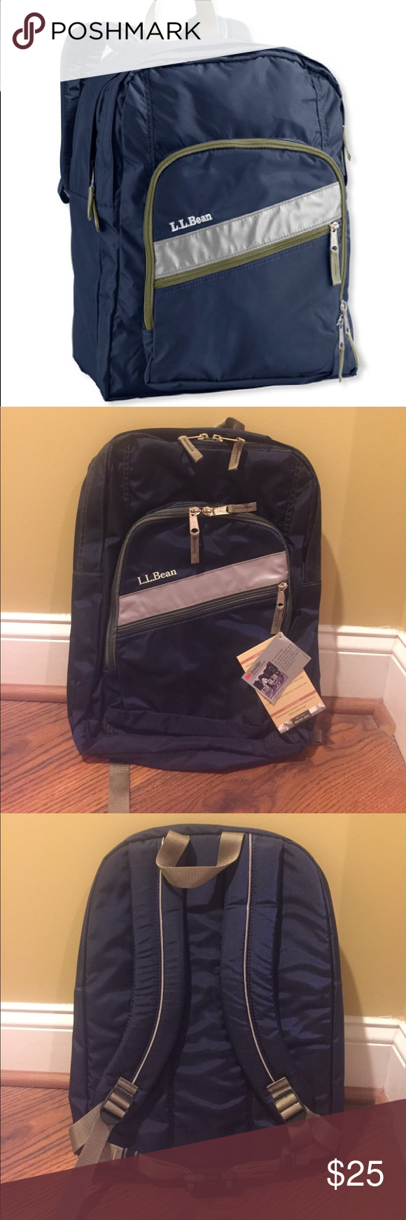 L L Bean Deluxe Book Bag In Navy Blue L L Bean Deluxe Book Bag Brand New With Tags Perfect For The Upcoming School Year Clothes Design Fashion Design Fashion