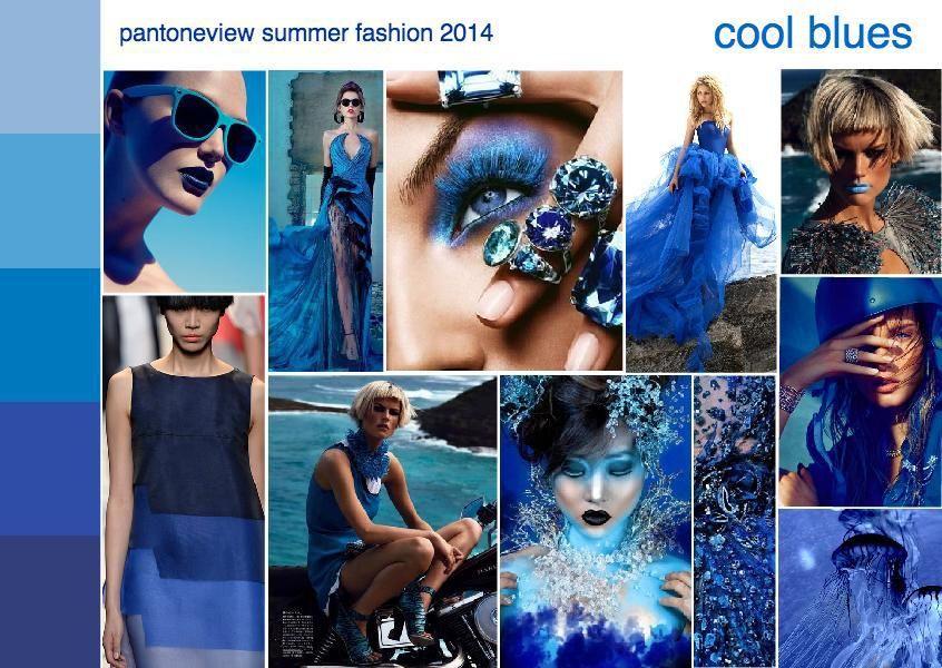 summer 2014 fashion trend mood board cool blues ...