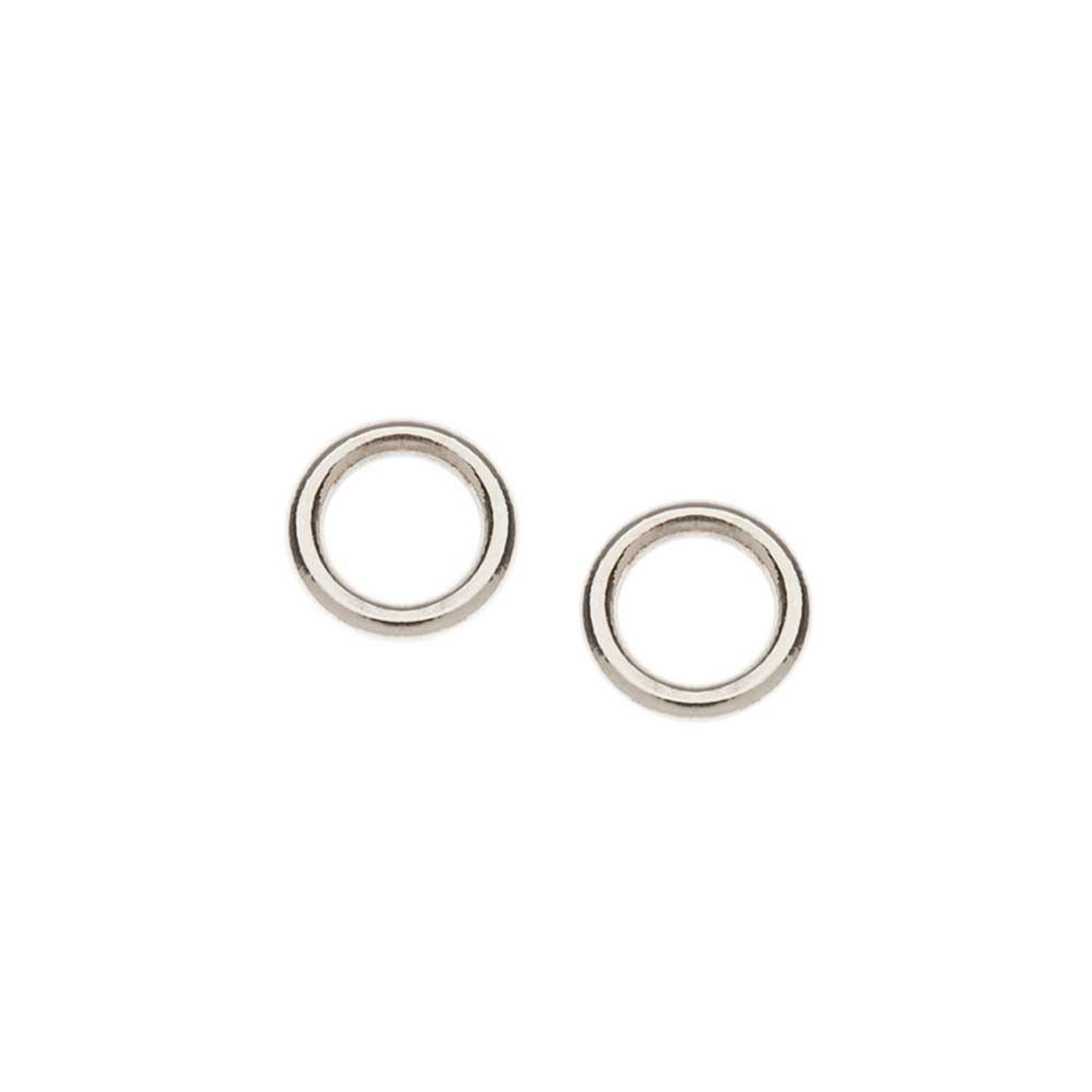 bronze pyrrha products circle stud earrings open