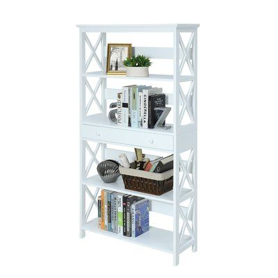 Beachcrest Home Gracelynn 5 Tier 59 75 Standard Bookcase With